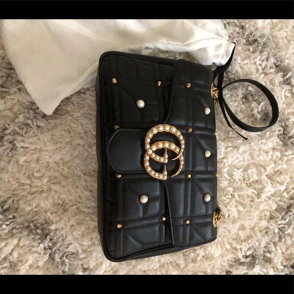 26829cebecd Gucci marmont pearl 2.0 shoulder bag